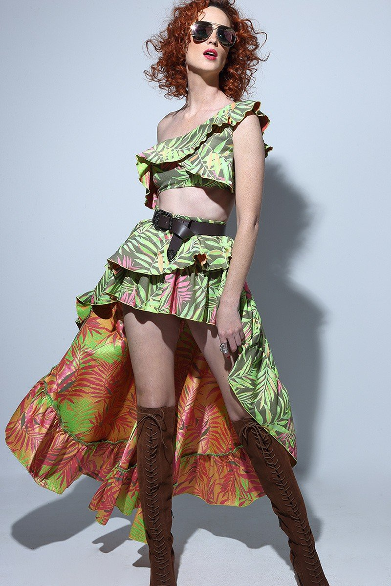 Falda Asimétrica XXL Tropic
