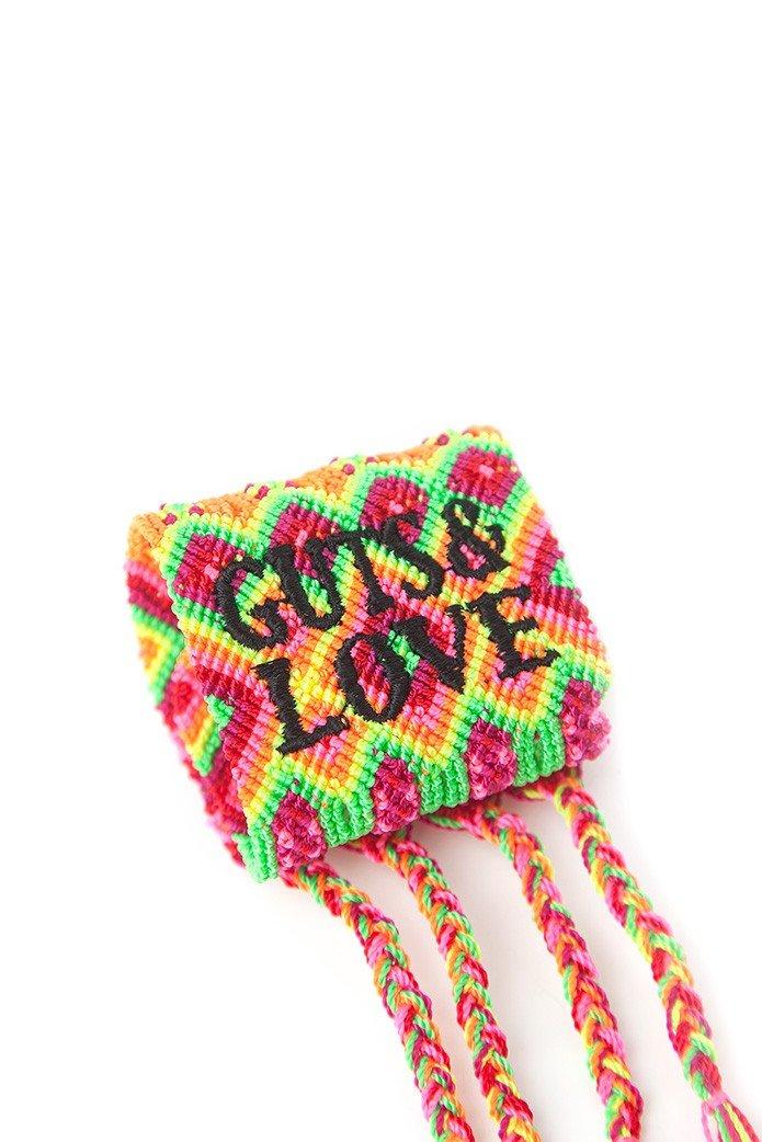 GUTS&LOVE BLACK GUTS&LOVE THREAD WIDE BRACELET