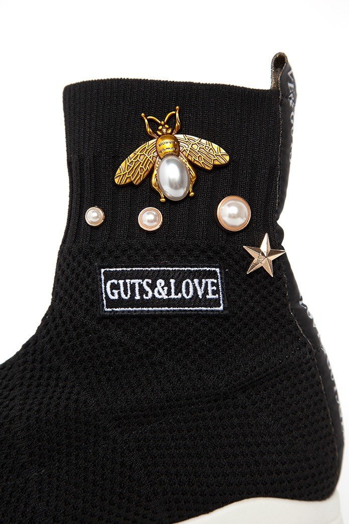 GUTS&LOVE BEE & STAR KNIT SNEAKERS