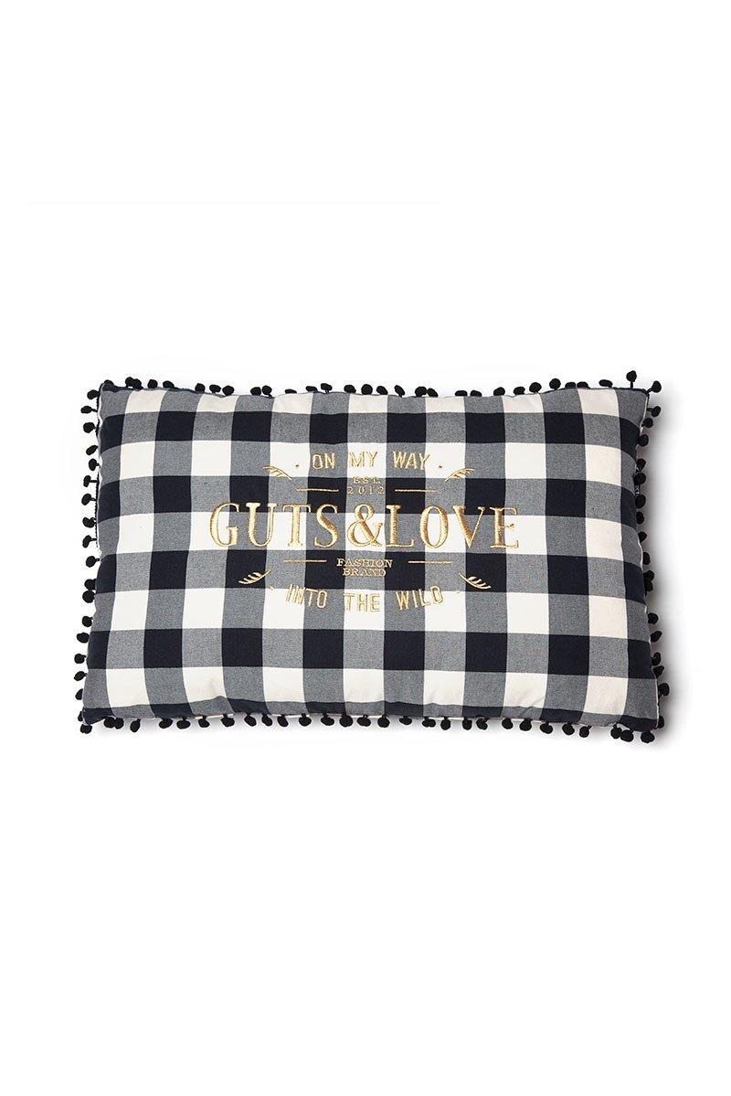 G&L Vichy Cushion Negro Big (65 x 42)