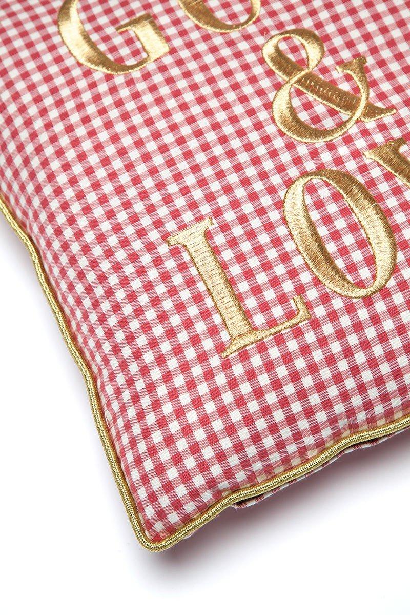 G&L Vichy Cushion Rojo Small (45 x 45)
