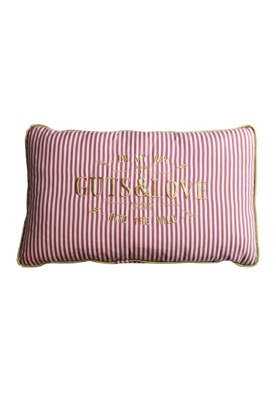 GUTS&LOVE G&L Stripes Cushion SMALL Rojo (65 x 42)