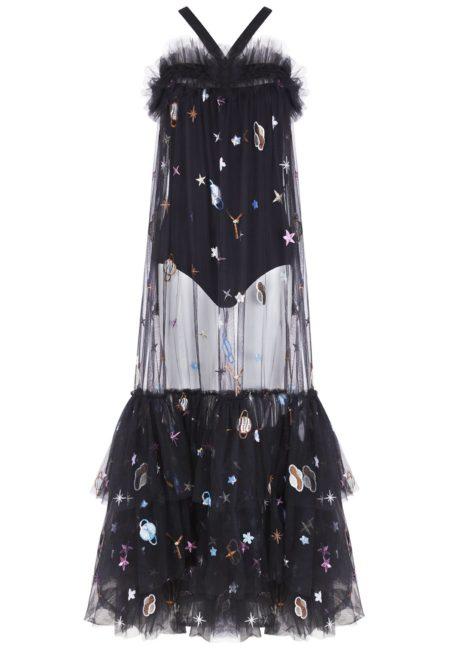 Guts and love. Silueta del vestido largo Across the universe de la colección primavera verano 2020 Underneath the star