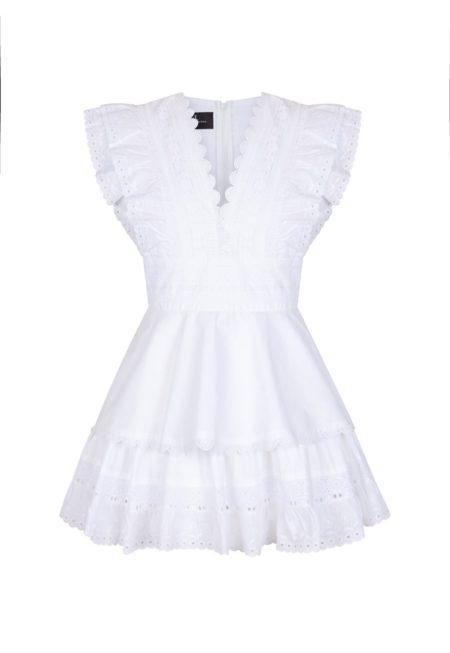 Guts and love. Silueta del vestido blanco corto A summer fable de la colección primavera verano 2020 Underneath the star