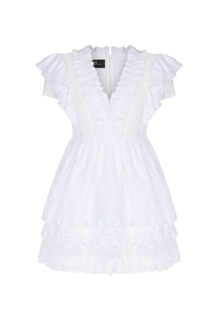 Guts and love. Silueta del vestido corto de color blanco DAYDREAM de la colección primavera verano 2020 Underneath the star