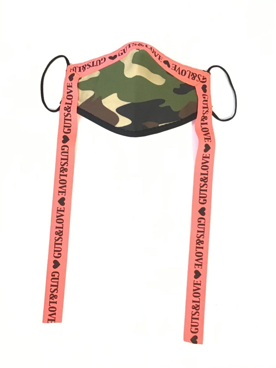 CAMO MASK WITH RIBBON
