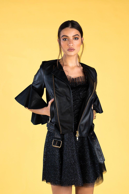 Guts and love. Chaqueta 100% ovino Leather foreva' de la colección primavera verano 2020 Underneath the star