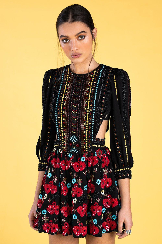 Guts and love. Vestido corto Late in Marrakech de la colección primavera verano 2020 Underneath the star