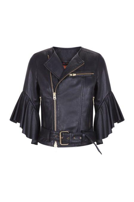 Guts and love. Silueta de la chaqueta 100% ovino Leather foreva' de la colección primavera verano 2020 Underneath the star