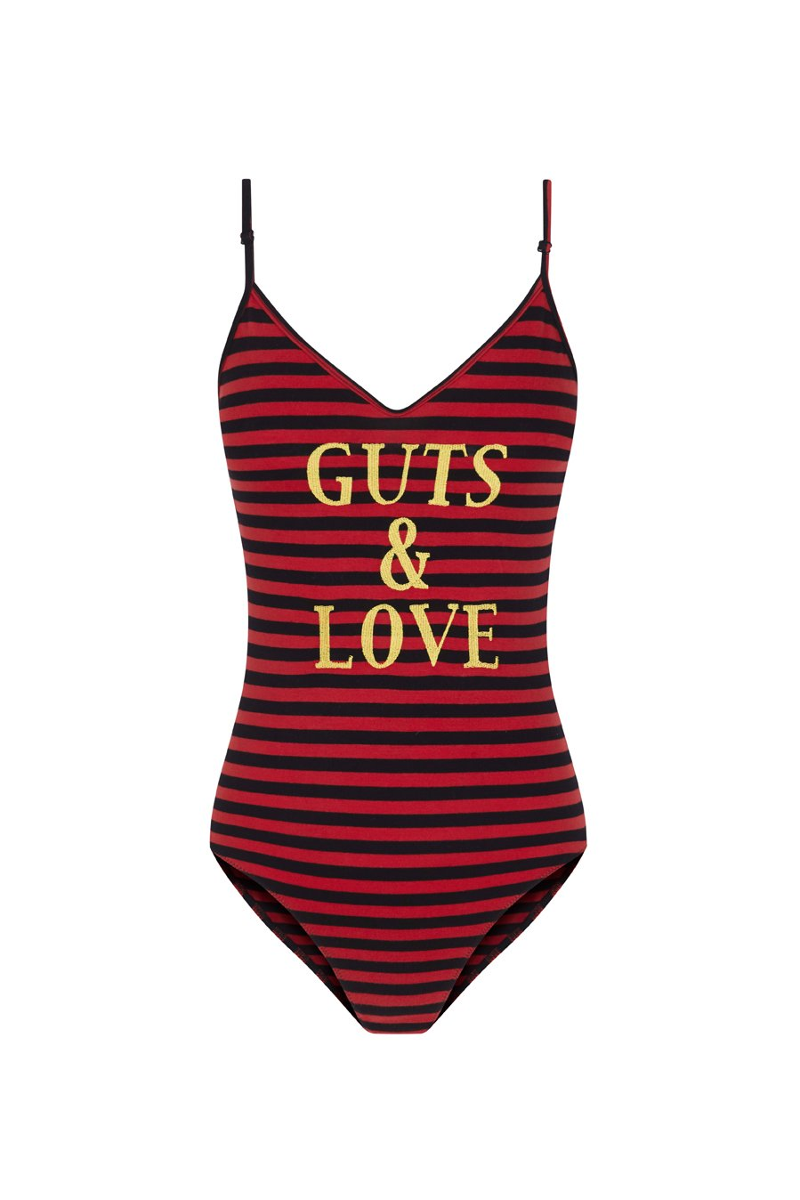 Guts and love. Silueta del body Guts and stripes de la colección primavera verano 2020 Underneath the star