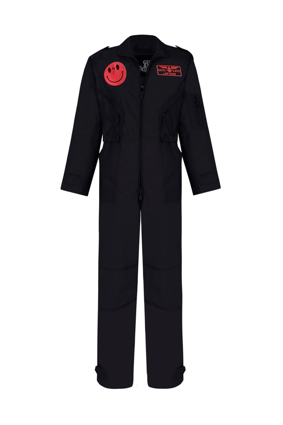 BLACK AND NEON COVERALL