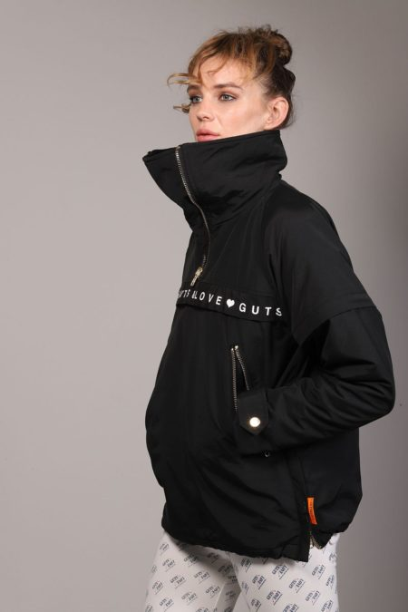 Chaqueta negra waterproof con forro polar G&L TOUCHÉ RUNNER de Guts and love