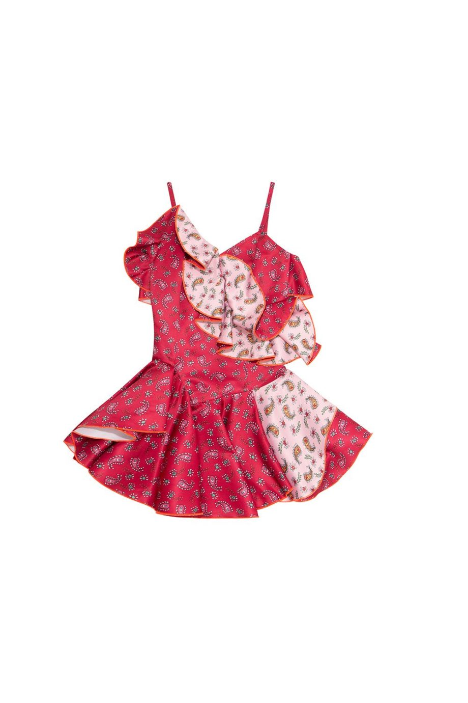 RED  &  PINK  RUFFLE