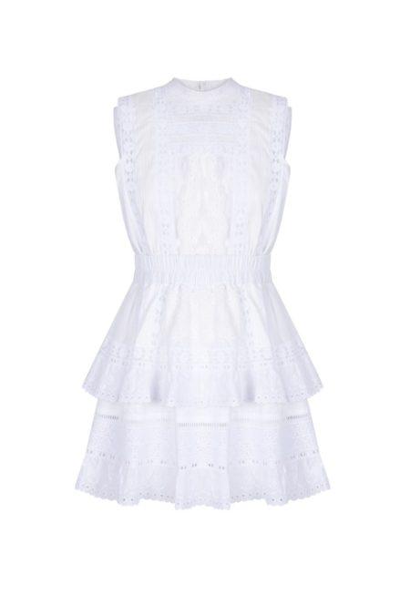 Guts and love. Silueta vestido corto de color blanco Light soul de la colección primavera verano 2020 Underneath the star