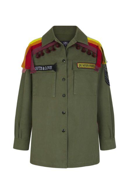 Guts and love. Silueta de la camisa tipo militar Moroccan Feelin de la colección primavera verano 2020 Underneath the star