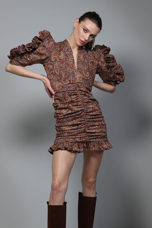 Vestido Nebraska de otoño invierno colección Touché de Guts and love