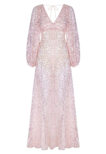 Guts and love. Silueta del Vestido largo Pink emotions de la colección primavera verano 2020 Underneath the star