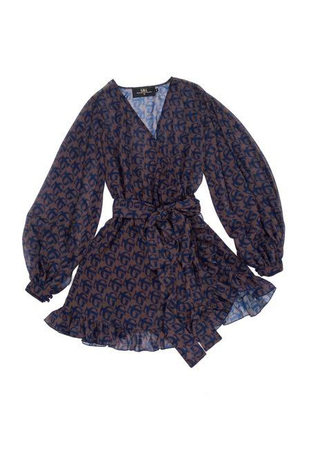 Silueta del vestido Monogram de otoño invierno colección Touché de Guts and love