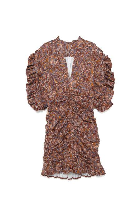 Silueta del vestido Nebraska de otoño invierno colección Touché de Guts and love