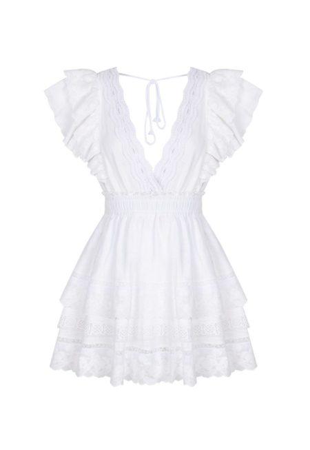 Guts and love. Silueta del vestido blanco corto You are de la colección primavera verano 2020 Underneath the star