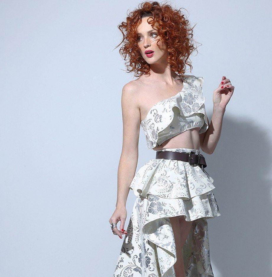 Falda Asimétrica XXL Silver