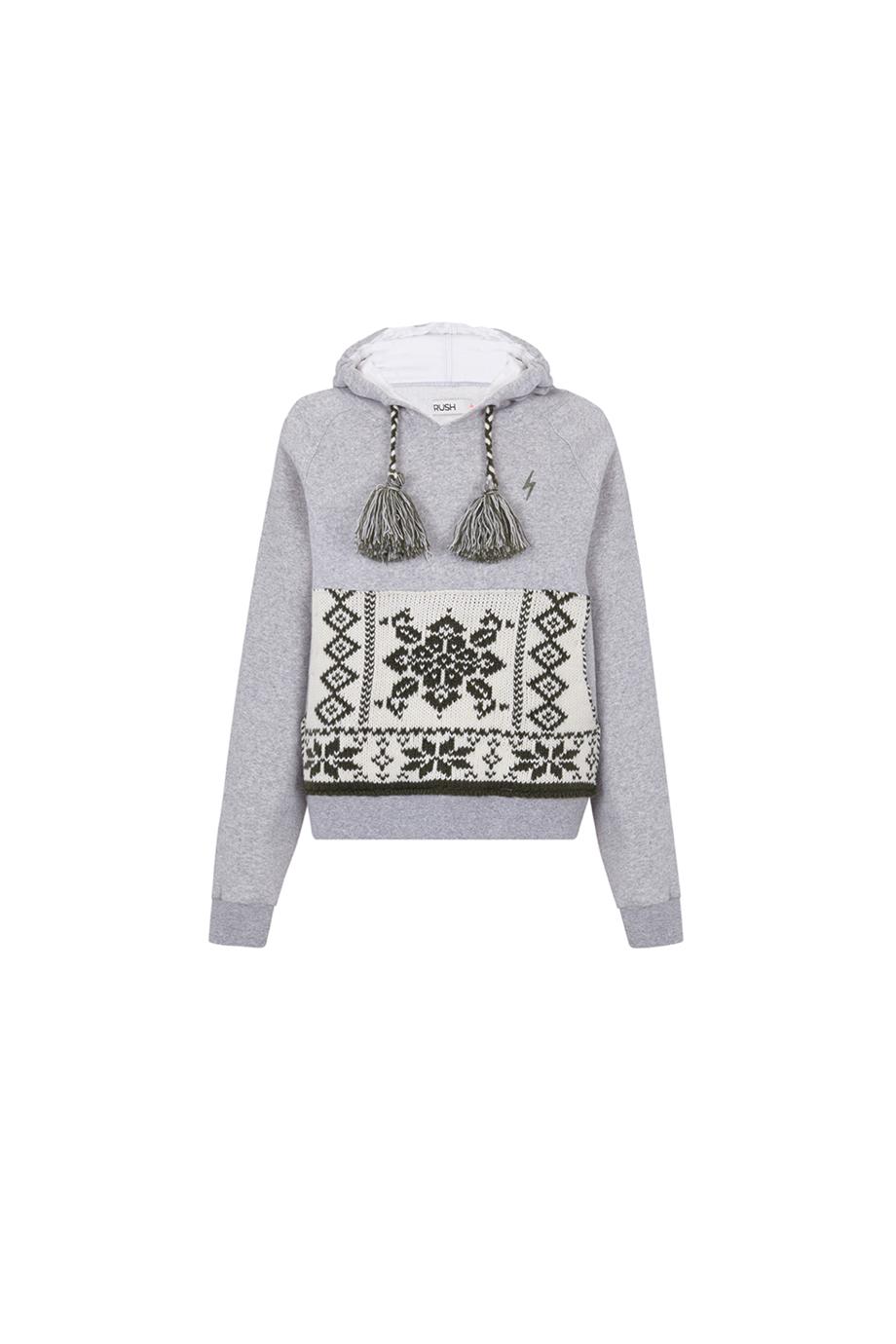 Sudadera RUSH Gray sweatshirt chicas by GUTS&LOVE