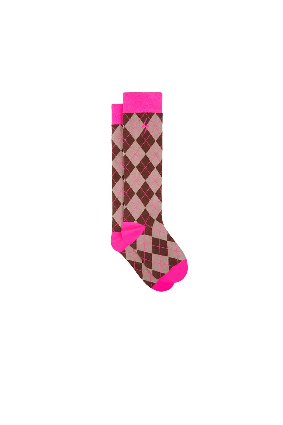 Calcetines RUSH Neon rhombus socks