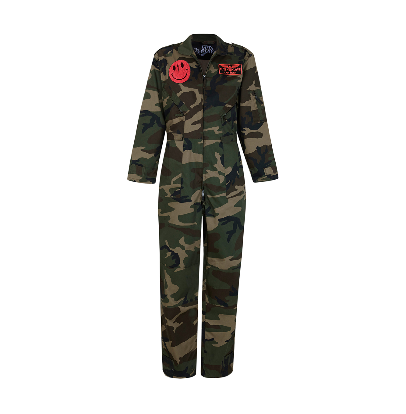MONO TOP GUTS MILITAR COVERALL RUSH by Guts&Love vista delantera