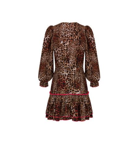 Espalda Vestido V dress Leopard RUSH by Guts&Love