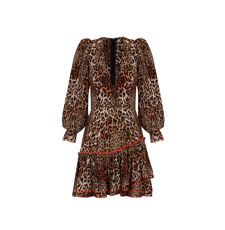 Vestido V dress Leopard RUSH by Guts&Love