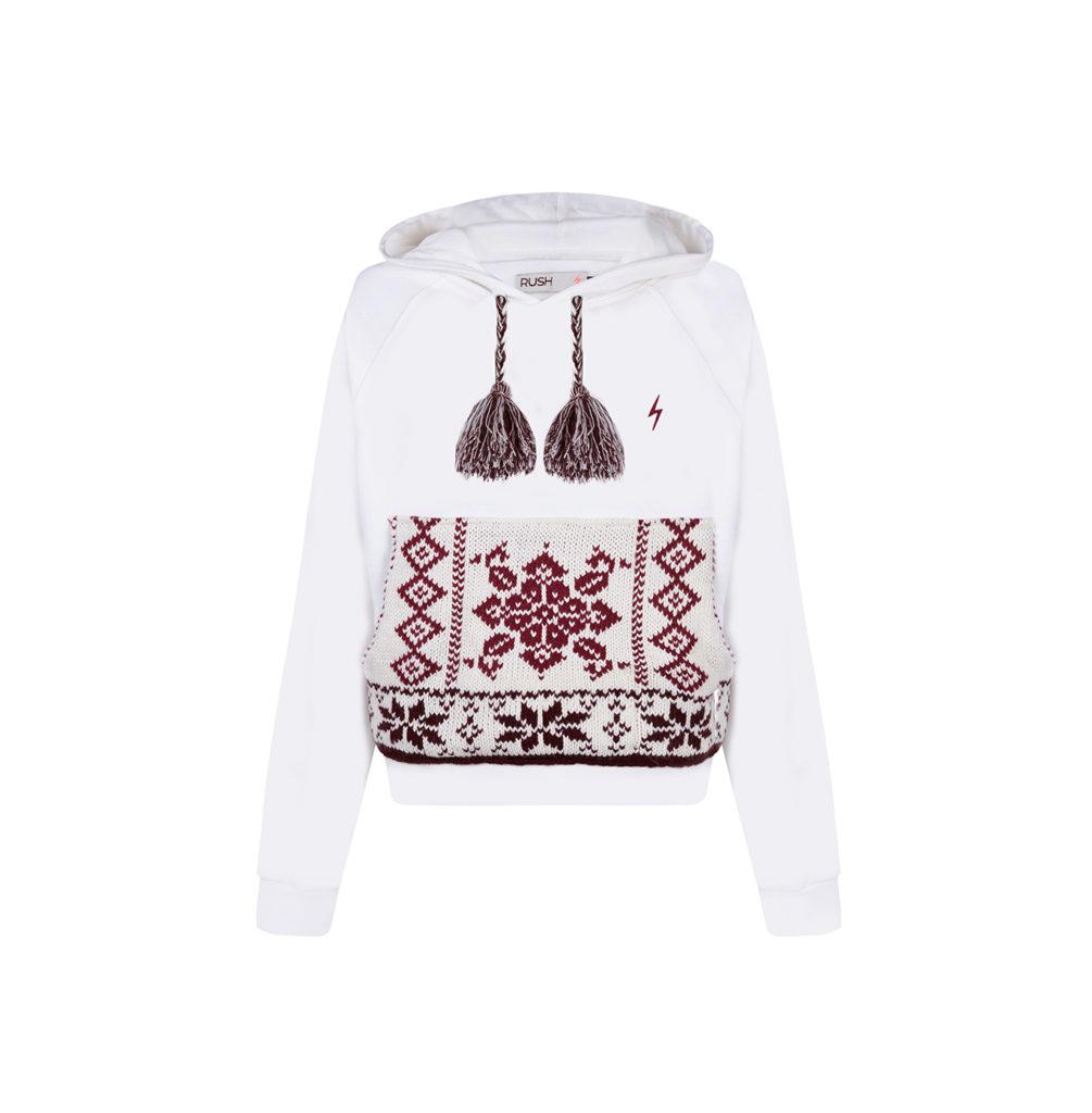 Sudadera RUSH White cool sweatshirt chicas by GUTS&LOVE