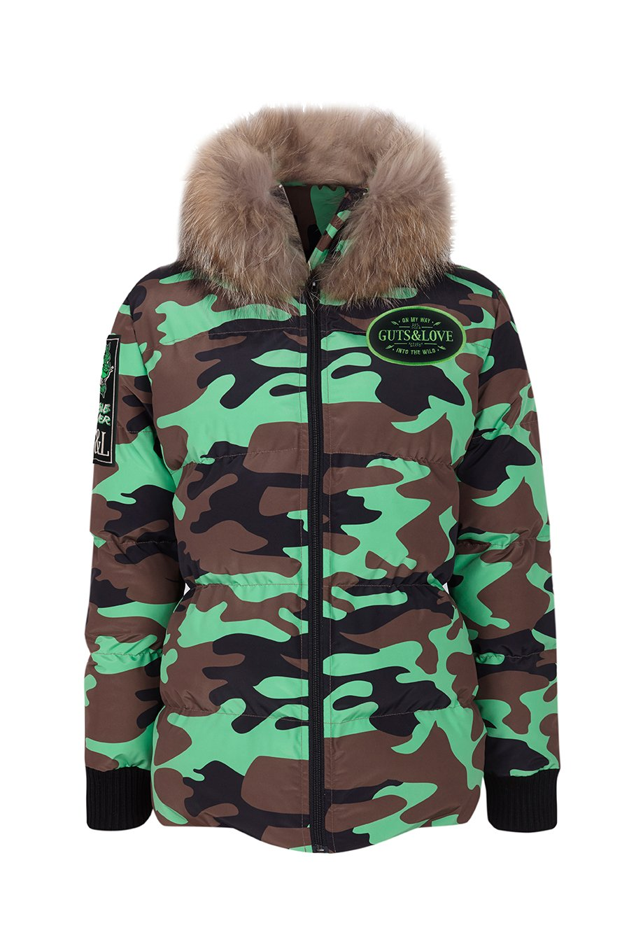 Plumifero Camo jacket green Guts and Love