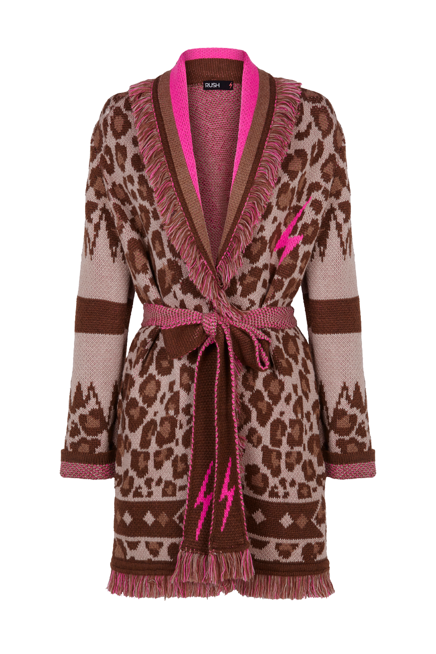 CHAQUETA LEOPARD IN A RUSH by GUTS AND LOVE