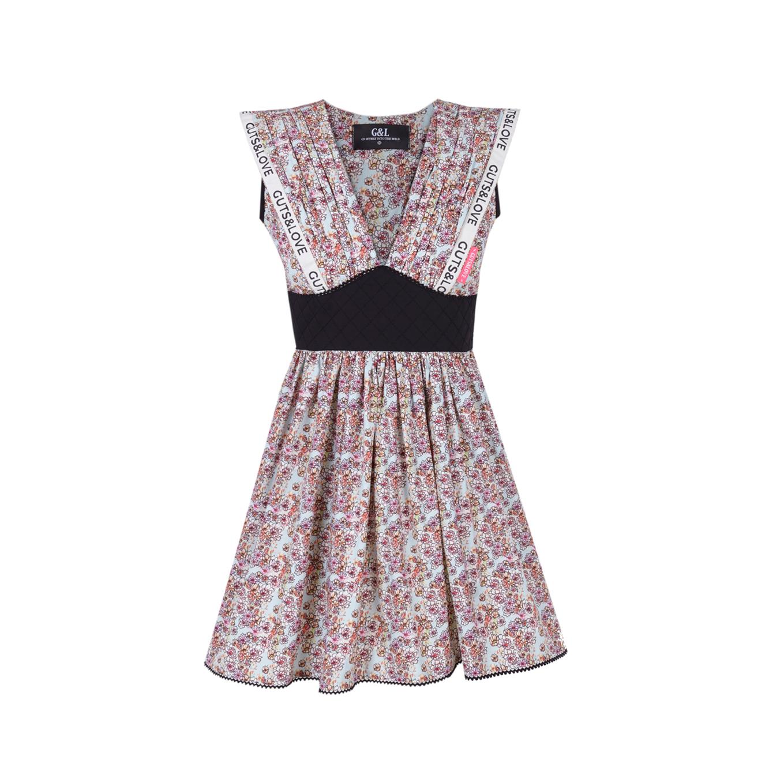 Vestido arizona mini blu dress Guts&Love